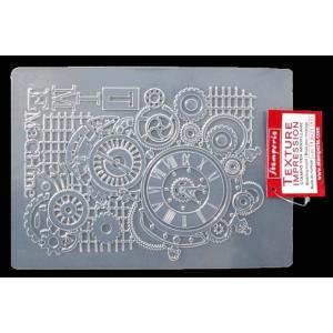 スタンペリア Stamperia イタリア A5 モールド 樹脂粘土型 抜き型 レジン型 ねんど型 彫刻 Mold Flexible pvc タイムマシン Time Machine K3PTA513|ccpopo