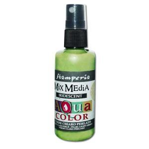 スタンペリア Stamperia スプレー式水性アクリル絵具 Aquacolor spray 60ml ライトグリーン Iridescent light green KAQ033|ccpopo