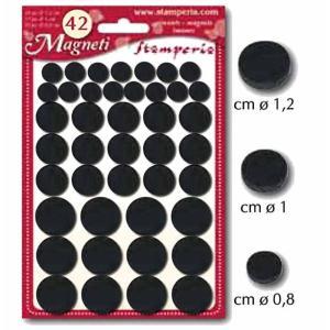 スタンペリア Stamperia ミディアムマグネット 直径 1.2cm 1.0cm 0.8cm 42個のマグネット詰め合わせ KGC02 ccpopo