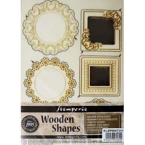 スタンペリア Stamperia イタリア 木製フレーム Wooden frames A5 size KLSP004 ミックスメディアアート フレーム 天使の羽 Frames and Angles|ccpopo