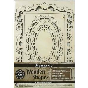スタンペリア Stamperia イタリア 木製フレーム Wooden frames A5 size KLSP020 ミックスメディアアート|ccpopo