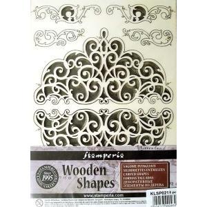 スタンペリア Stamperia イタリア 木製フレーム Wooden frames A5 size KLSP021 ミクストメディアアート レースとフリーズ Laces and Friezes|ccpopo