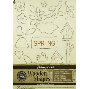スタンペリア Stamperia イタリア 木製フレーム Wooden frames A5 size KLSP051 スプリング 春 Spring|ccpopo