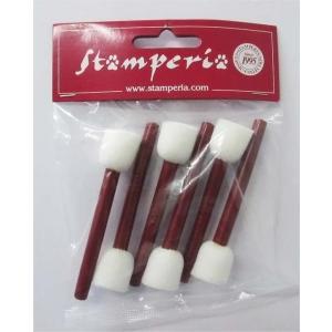 スタンペリア Stamperia スポンジブラシ 6本セット 小 スモールサイズ Sponge-brush set of 6 small size KR03 正規輸入品 ミクストメディア デコパージュ|ccpopo