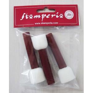 スタンペリア Stamperia スポンジブラシ 3本セット 小 スモールサイズ Sponge-brush set of 3 small size KR11 正規輸入品|ccpopo