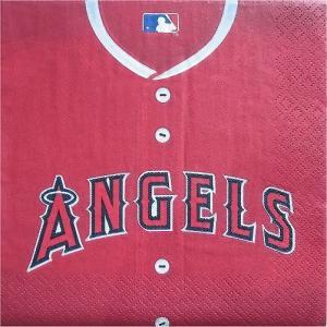 2枚1セット ロサンゼルス エンゼルス LA ANGELS OF ANAHEIM 野球 MLB 大リーグ アメリカ MADE IN USA ペーパーナプキン 紙ナフキン 2枚重ね|ccpopo