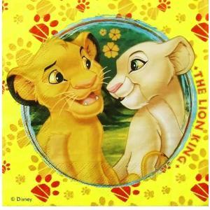 1枚バラ売り人気キャラクター ディズニーアニメ Disney ライオンキング MADE IN EU ペーパーナプキン 紙ナフキン デコパージュ ドリパージュ 5201184802533 ccpopo