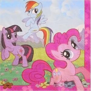 2枚セット/マイリトルポニー/My Little Pony/アメリカ製/MADE IN USA/ペーパーナプキン/紙ナフキン/32.7x32.7cm/2枚重ね デコパージュ ドリパージュ|ccpopo