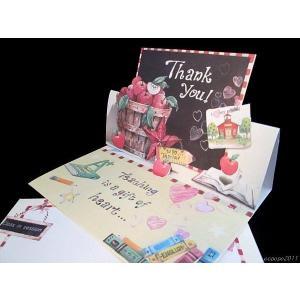 おしゃれで可愛い カード&封筒1組 セット Aサンキューカード|ccpopo