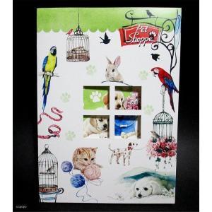 USAリゾムデザイン おしゃれでかわいい グリーティングカード&封筒1組 セット ペットショップ|ccpopo
