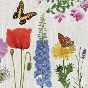 Maki ポーランド ペーパーナプキン Lunch napkins 花と蝶 バラ売り2枚1セット SLOG-031101
