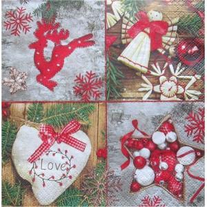 Maki ポーランド ペーパーナプキン Lunch napkins かわいいクリスマスツリーの飾り Baumschmuck バラ売り2枚1セット SLGW-010201