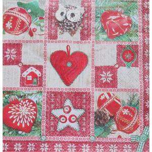 Maki ポーランド ペーパーナプキン Lunch napkins クリスマスアイコン バラ売り2枚1セット SLGW-014302