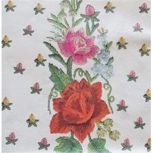 Maki ポーランド ペーパーナプキン Lunch napkins Flowers バラ売り2枚1セット SLOG-004001