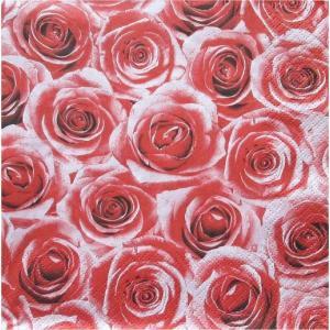 Maki ポーランド ペーパーナプキン 赤い薔薇 バラ売り2枚1セット SLOG-006902 デコパージュ ドリパージュ ccpopo