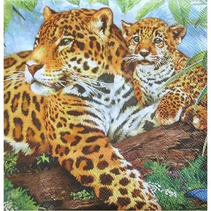Maki ポーランド ペーパーナプキン Lunch napkins ヒョウ Leopard バラ売り2枚1セット SLOG-012501