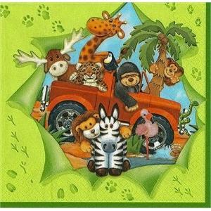 Maki ポーランド ペーパーナプキン Wild Safari Green バラ売り2枚1セット SLOG-012801 デコパージュ ドリパージュ ccpopo