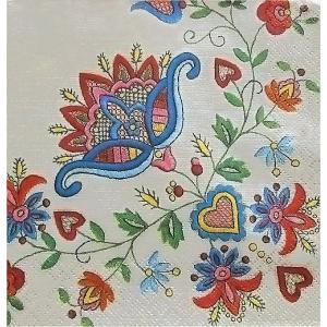Maki ポーランド ペーパーナプキン フラワーオーナメント Flower Ornaments バラ売り2枚1セット SLOG-016901 デコパージュ ドリパージュ|ccpopo