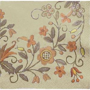 Maki ポーランド ペーパーナプキン Flower Ornaments バラ売り2枚1セット SLOG-017001 デコパージュ ドリパージュ|ccpopo