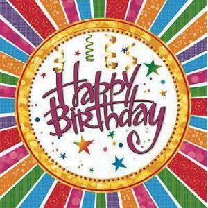 Maki ポーランド ペーパーナプキン Happy Birthday バラ売り2枚1セット SLOG-029901 デコパージュ ドリパージュ ccpopo