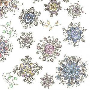Maki ポーランド ペーパーナプキン Lunch napkins 花模様 Blumenmuster バラ売り2枚1セット SLOG-030601