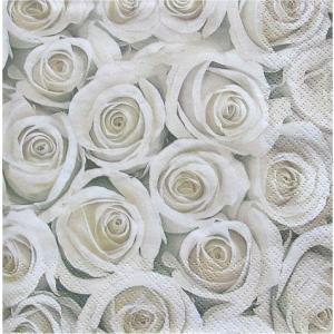 Maki ポーランド ペーパーナプキン 白薔薇 バラ売り2枚1セット SLOG-031801 デコパージュ ドリパージュ ccpopo
