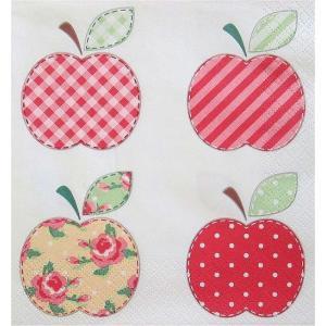 Maki ポーランド ペーパーナプキン パッチワークアップル Patchwork Appels バラ売り2枚1セット SLOG-033301 デコパージュ ドリパージュ|ccpopo