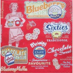 Maki ポーランド ペーパーナプキン American Vintage Food バラ売り2枚1セット SLOG-036601 デコパージュ ドリパージュ|ccpopo