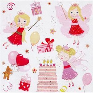 Maki ポーランド ペーパーナプキン Lunch napkins お誕生日を祝う妖精達 Birthday Fairies バラ売り2枚1セット SLOG-040801|ccpopo