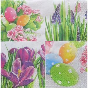 Maki ポーランド ペーパーナプキン Pastel Easter Collage バラ売り2枚1セット SLWL-006901 デコパージュ ccpopo