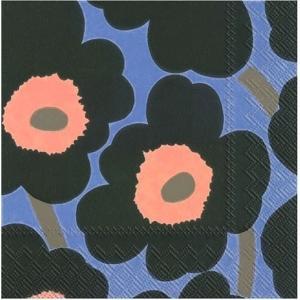 1枚バラ売りペーパーナプキンマリメッコ Marimekko UNIKKO green blue 北欧 552624 ドリパージュ デコパージュ|ccpopo