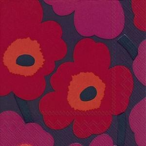 1枚バラ売りペーパーナプキンマリメッコ Marimekko ウニッコ モーブ色 UNIKKO mauve 北欧 552682 ドリパージュ デコパージュ|ccpopo