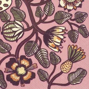 1枚バラ売りペーパーナプキンマリメッコ Marimekko TIARA rose 北欧 L-606050 ドリパージュ デコパージュ|ccpopo