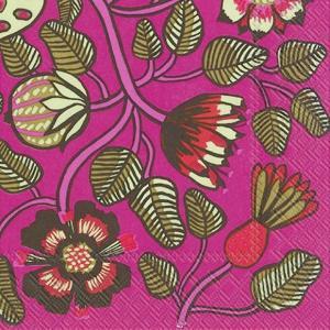 1枚バラ売りペーパーナプキンマリメッコ Marimekko TIARA pink 北欧 L-606055 ドリパージュ デコパージュ|ccpopo