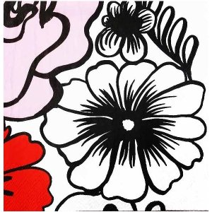 1枚バラ売りペーパーナプキン 2019春夏 マリメッコ Marimekko ELAKOON ELAMA white 33x33cm ランチサイズ 北欧 803890 ドリパージュ デコパージュ|ccpopo