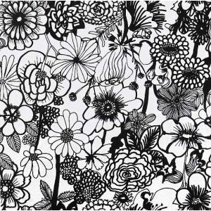 1枚バラ売りペーパーナプキン 2019春夏 マリメッコ Marimekko SEPPELEKUKAT black ランチサイズ 北欧 803907 ドリパージュ デコパージュ|ccpopo