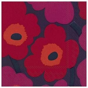 1枚バラ売り25cmペーパーナプキン マリメッコ Marimekko ウニッコ モーブ色 UNIKKO mauve 北欧 紙コースター デコパージュ ドリパージュ 552682|ccpopo