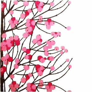 1枚バラ売り25cmペーパーナプキン 2019春夏 マリメッコ Marimekko LUMIMARJA white pink 北欧 紙コースター デコパージュ ドリパージュ 552995|ccpopo