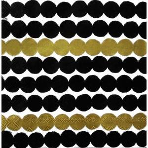 1枚バラ売り25cmペーパーナプキン 2019春夏 マリメッコ Marimekko RASYMATTO black gold 北欧 紙コースター デコパージュ ドリパージュ 589379|ccpopo
