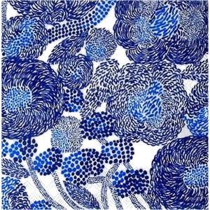 1枚バラ売り25cmペーパーナプキン マリメッコ Marimekko MYNSTERI cream blue 北欧 紙コースター デコパージュ ドリパージュ 771264|ccpopo