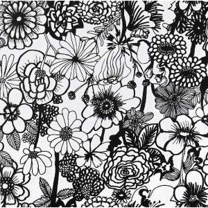 1枚バラ売り25cmペーパーナプキン 2019春夏 マリメッコ Marimekko SEPPELEKUKAT black 北欧 紙コースター デコパージュ ドリパージュ 803907|ccpopo