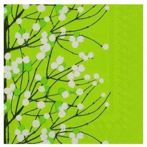 マリメッコ Marimekko ペーパーナプキン LUMIMARJA light green 2枚 北欧 L-552929 デコパージュ ドリパージュ|ccpopo