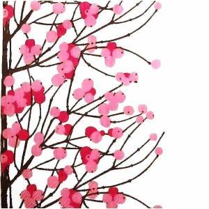 マリメッコ Marimekko ペーパーナプキン LUMIMARJA white pink 2枚 北欧 L-552995 デコパージュ ドリパージュ|ccpopo