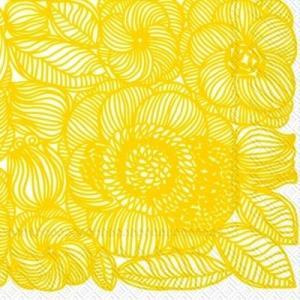 マリメッコ Marimekko ペーパーナプキン Kurjenpolvi yellow 2枚 北欧 L-553470 デコパージュ ドリパージュ|ccpopo