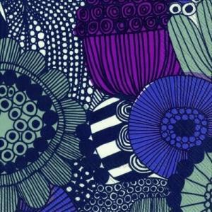 マリメッコ Marimekko ペーパーナプキン SIIRTOLAPUUTARHA purple 2枚 北欧 L-553980 デコパージュ ドリパージュ|ccpopo