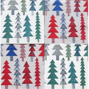 25cmペーパーナプキン4枚セット カクテルサイズ オリジナルアソート マリメッコ Marimekko KUUSIKOSSA red KUUSIKOSSA green 紙コースター デコパージュ|ccpopo