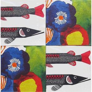 25cmペーパーナプキン4枚セット カクテルサイズ オリジナルアソート マリメッコ Marimekko JUHANNUSTAIKA HAUKI 紙コースター デコパージュ ccpopo