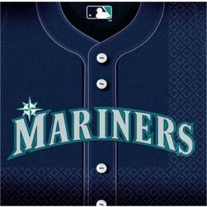 2枚1セット シアトルマリナーズ 野球 MLB 大リーグ アメリカ MADE IN USA ペーパーナプキン 紙ナフキン イチロー|ccpopo