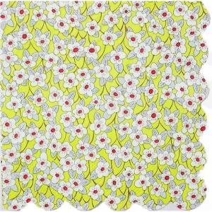 1枚バラ売り25.5cmペーパーナプキン リバティ Meri Meri Ffion イエロー フローラル 花 紙コースター デコパージュ ドリパージュ|ccpopo
