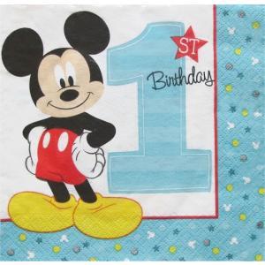 2枚1セット MICKEY'S FUN TO BE ONE napkin ディズニー アメリカ MADE IN USA ペーパーナプキン 紙ナフキン 2枚重ね|ccpopo